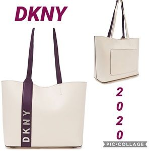 NWT DKNY Genuine Leather Bag Fashion Ivory Tote
